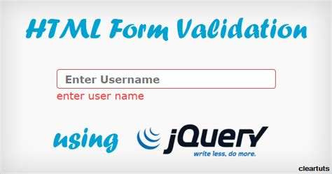 html jquery design simple html form validation using jquery coding cage