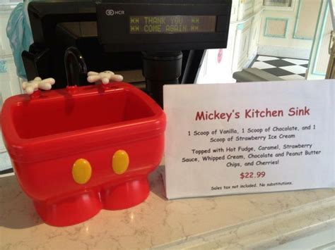 kitchen sink disney walt disney mickey s kitchen sink sundae disney