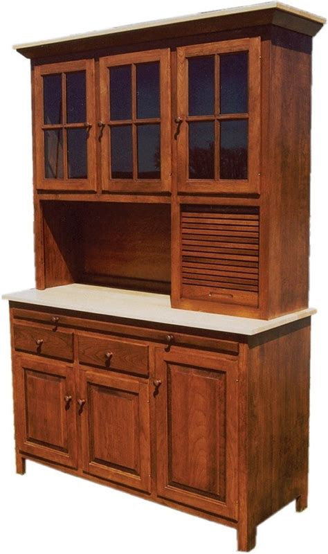 Amish Kitchen Hoosier Cabinet Hutch Baking Pantry Solid Wood Country Rustic New   eBay