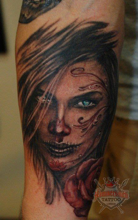 electric tattoo eye sugar skull girl tattoo got ink pinterest sugar