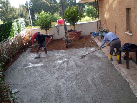 giardini piastrellati massetto per esterno pavimenti a roma