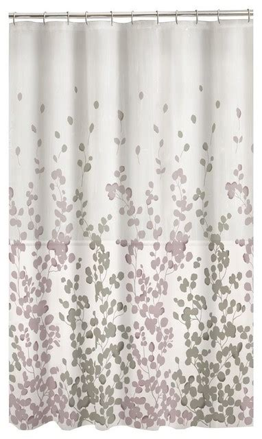 gray shower curtains fabric maytex sylvia fabric shower curtain lavender gray
