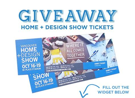 vancouver home design show free tickets enter to win tickets to the vancouver home design show