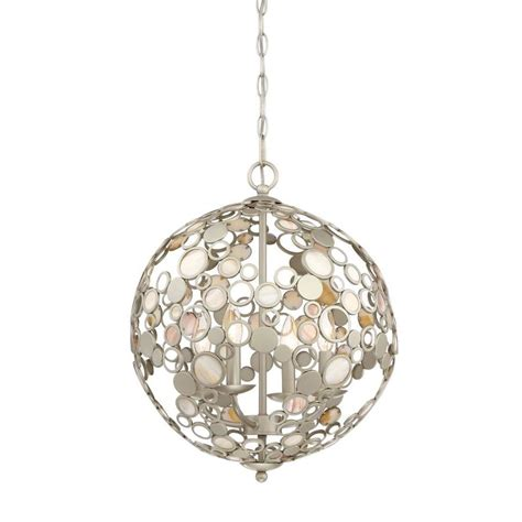 Orb Pendant Light Shop Quoizel Fairgate 16 In Silver Coastal Multi Light Orb Pendant At Lowes
