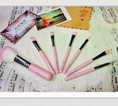 Kuas Set Isi 7 Small Pink Pouch kuas make up ecer grosir kosmetik