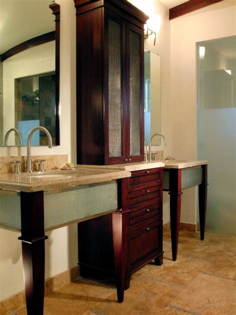 Bathroom Cabinet Designs - 18 savvy bathroom vanity storage ideas hgtv