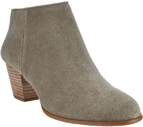 sole society boots sole society leather or suede stacked heel ankle boots