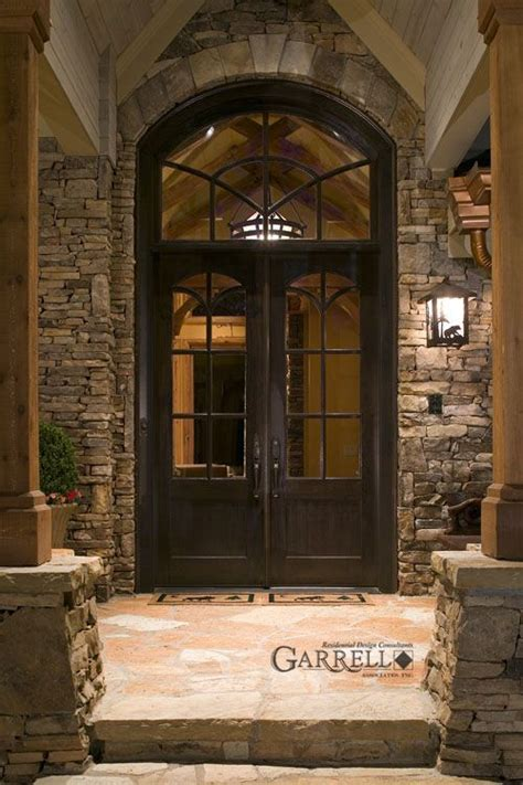 Luxury Front Door Rustic Luxury Mountain House Plan The Tranquility House Plans By Garrell Associates Inc
