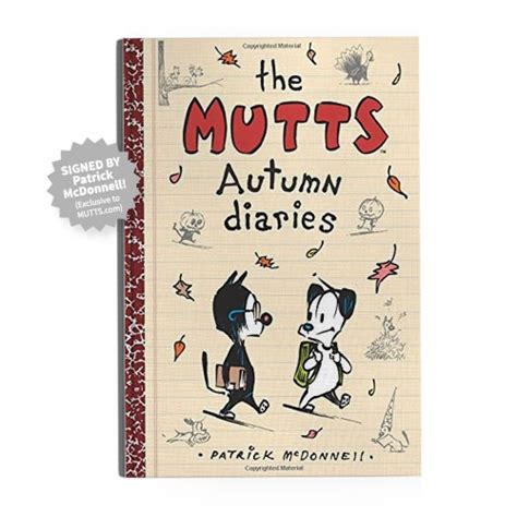 signed the mutts autumn diaries book mutts
