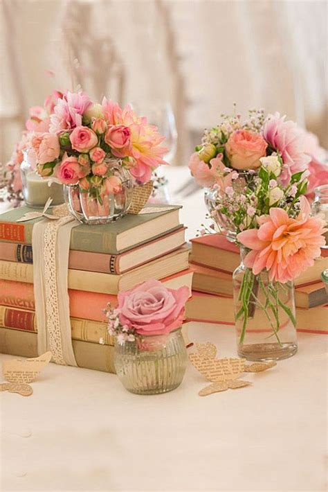 Wedding Decor by Best 25 Shabby Chic Centerpieces Ideas On