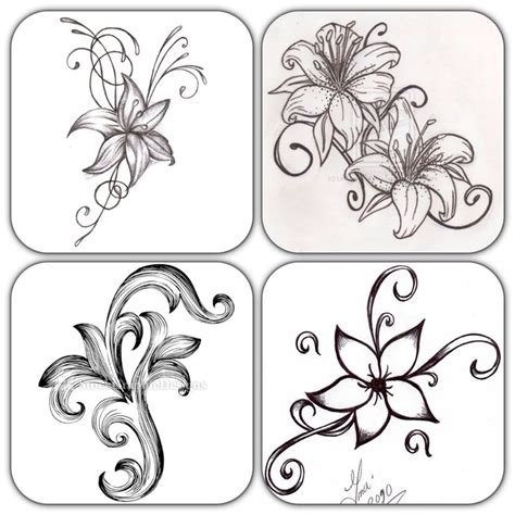 easy floral designs 17 best ideas about simple flower drawing on pinterest