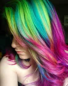 colorful hair styles 2014 hot ombre highlights trend 30 rainbow colored