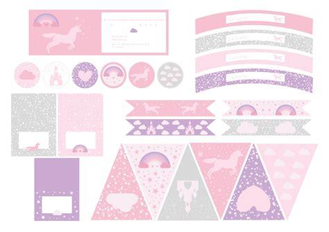 printable anniversaire licorne d 233 coration printable anniversaire sweet day