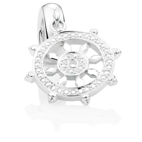 Silver Dangle With Cubic Zirconia P 1154 cubic zirconia sterling silver transformation dangle charm