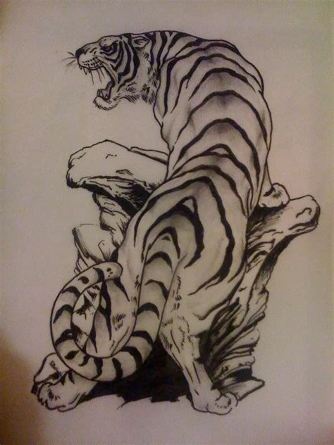 tiger tattoo by mefisto tattoo 16 best images about asian cat tattoos on pinterest