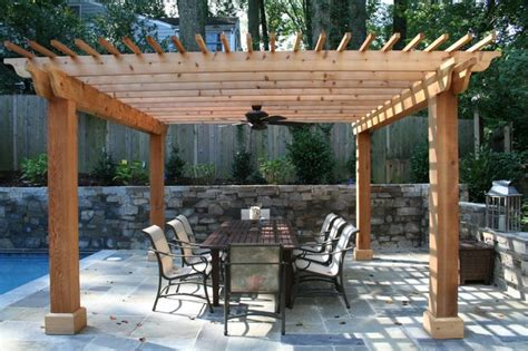Flagstone Patio With Pergola by Cedar Pergola With Flagstone Patio And Fieldstone