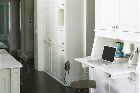 Built In Wall Cabinets With Desk by Built In Desk Transitional Kitchen Brian Watford Interiors
