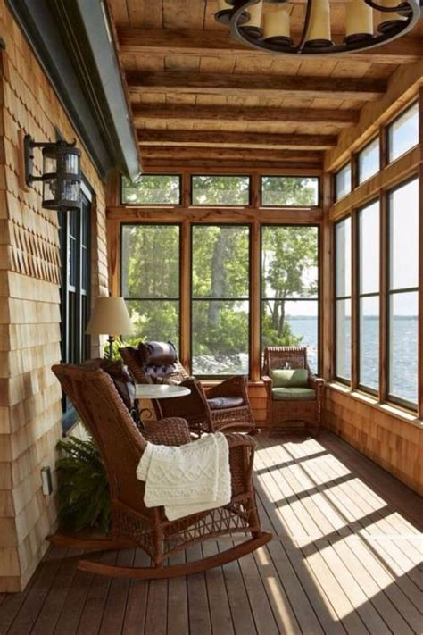 cottage floor plans with screened porch lake house screened in porch make mine rustic