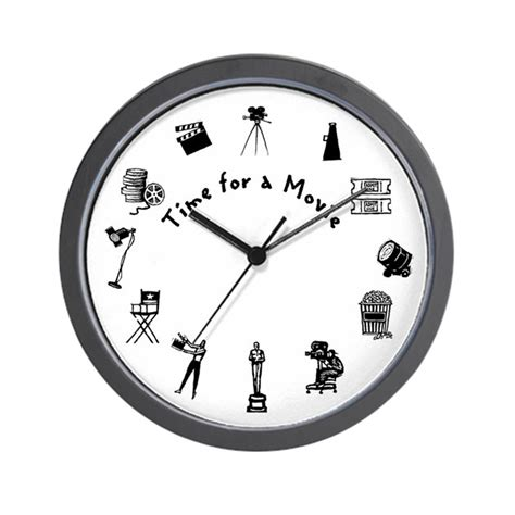 Time for a Movie Wall Clock by thirdmillshops In Time Movie Clock