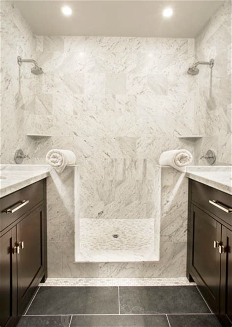 Marble Bathroom Showers Marble Shower Tiles Transitional Bathroom Sutro Architects