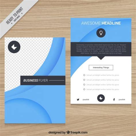 Flyer Vorlage Blau Blau Business Flyer Der Kostenlosen Vektor