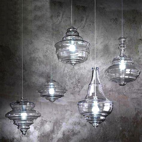 Modern North Blown Glass Pendant Lighting In Chrome Finish Blown Glass Pendant Lighting
