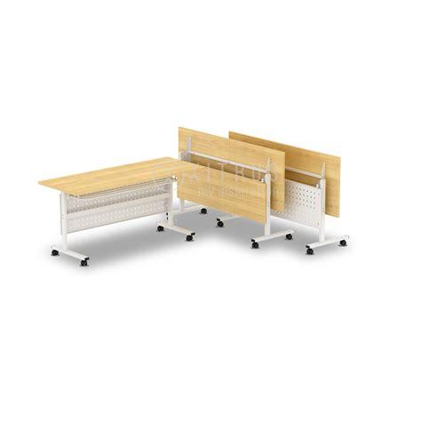Meja Lipat Dari Besi jual meja lipat kaki besi baru furniture kantor