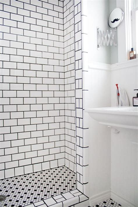 White Bathroom Tiles With Black Grout by Versatile Subway Tile