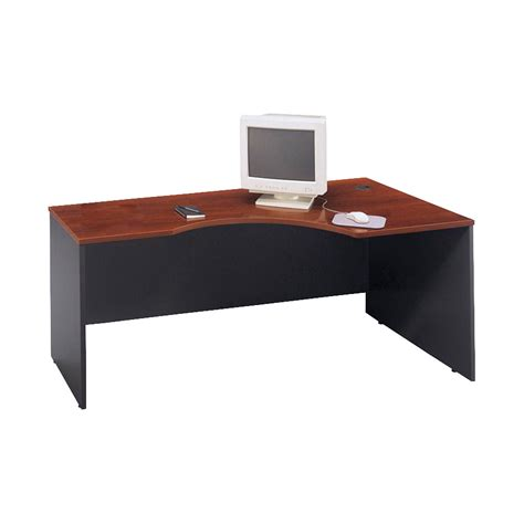 Modular Desks Office Furniture Bush C Series Executive Modular Desk Hansen Cherry And Graphite 71 W X 35 1 2 D 29 7 8 H In