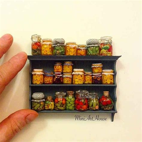 Shelf Of Jarred Food by 1457 Best Dollhouse Miniatures Images On