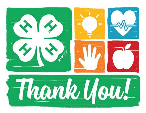 template for 4h thank you card nebraska 4 h thank you notecards merchandise 4 h youth