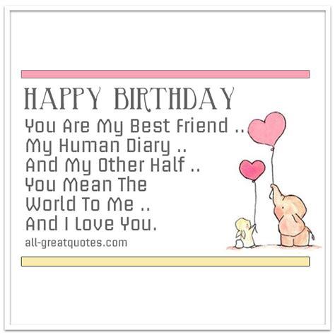 printable birthday cards best friends happy birthday cards for your best friend printable