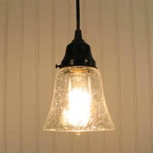 Seeded Glass Pendant Light Kelliburg Clear Seeded Glass Pendant Light By Lgoods On Etsy
