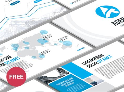 design agency powerpoint free powerpoint template agency by hislide io dribbble