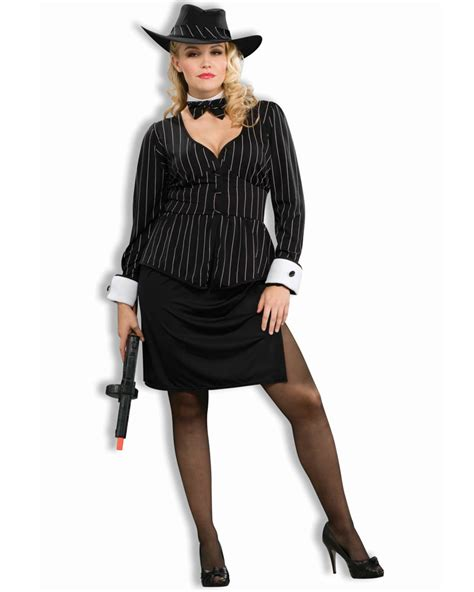 plus size gangster costume women cl167 gorgeous gangster 1920s chicago mafia mob moll plus