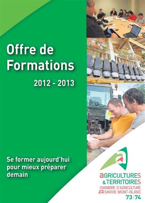 chambre d agriculture 37 calam 233 o offre de formations 2012 2013 de la chambre d