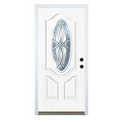 mobile home doors lowes shop therma tru benchmark doors oval lite decorative white