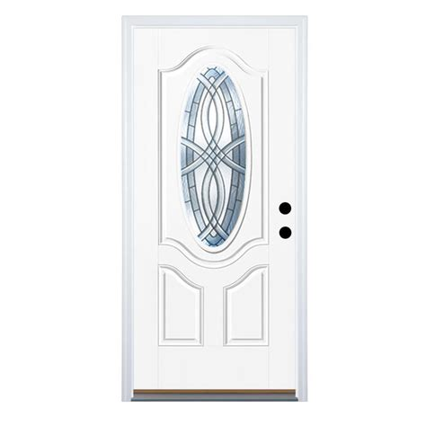 Mobile Home Doors At Lowes by Shop Therma Tru Benchmark Doors Oval Lite Decorative White