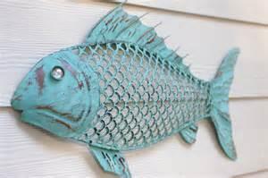 Metal Fish Wall Decor by Wall Decor Metal Fish Blue Green Patina