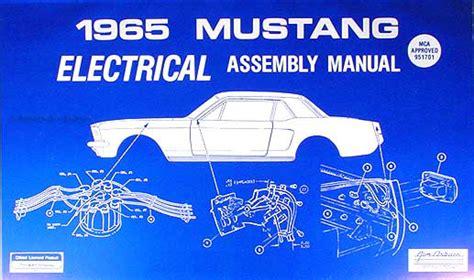 1965 ford mustang wiring diagram manual reprint