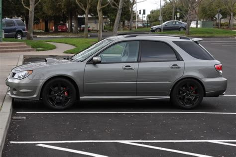 grey subaru impreza hatchback 06 wrx wagon grey w black rims subaru pinterest wrx