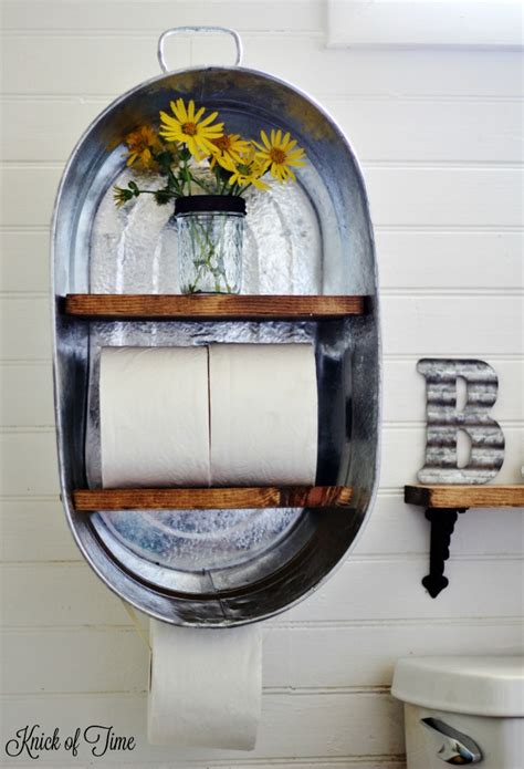 Bathroom Toilet Paper Holder Ideas by Farm Supply Inspired Diy Bathroom Shelf Knick Of Time