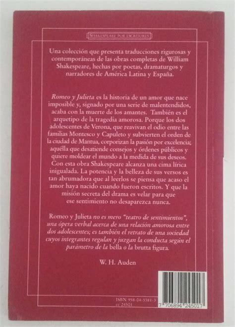 leer el libro completo de romeo y julieta libro romeo y julieta william shakespeare norma bs 30 000 00 en mercado libre