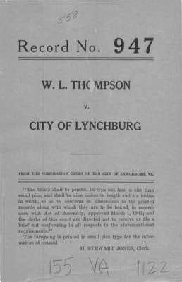 Lynchburg Va Court Records Virginia Supreme Court Records Volume 155 Virginia Supreme Court Records