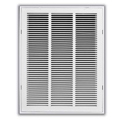 truaire 14 in x 30 in white return air filter grille