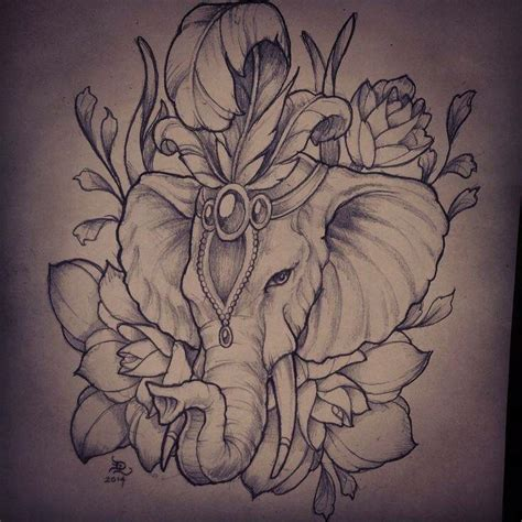 elephant tattoo with flowers 17 best ideas about elephant design on