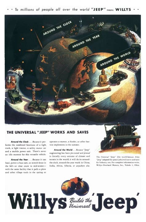 Jeep Advert Willys Jeep Cj2a Advertising