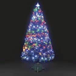 6ft galaxy multi colour fibre optic christmas tree with leds ebay