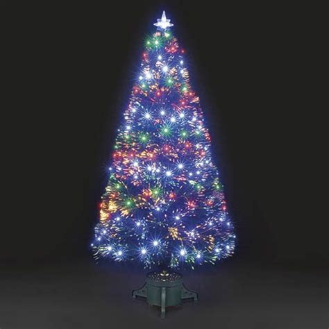 6ft galaxy multi colour fibre optic christmas tree with