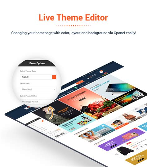 live theme editor by viethemes rossi flexible multipurpose prestashop 1 7 theme by